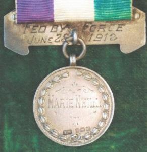 WSPU hunger strike medal