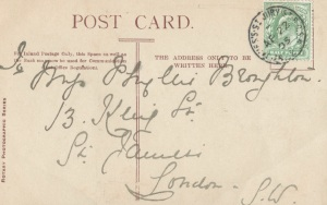 Postcard addressed to  Phyllis Broughton